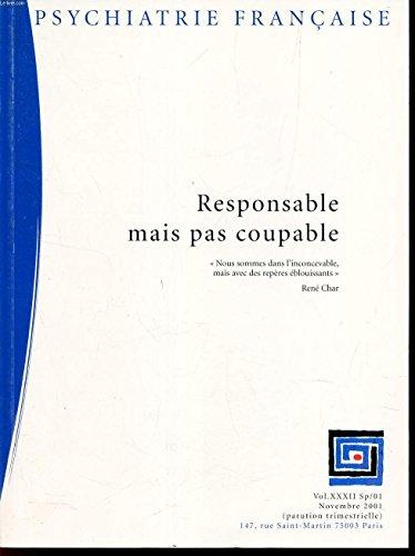 Psychiatrie francaise, vol. xxxii, 1/01, avril 2001, la psychiatrie francaise vue de l'etranger