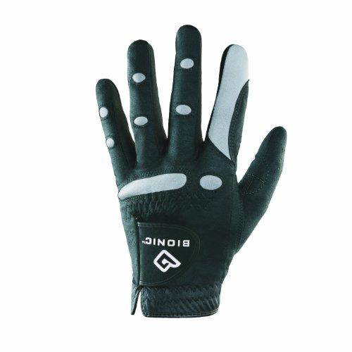 Bionic Herren Golfhandschuh linke Hand (Rechtshänder) AquaGrip schwarz schwarz Medium/Large (Bionic Herren Golfhandschuh)