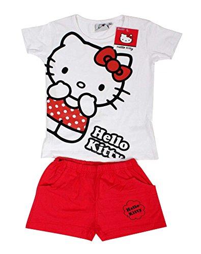 Sanrio Hallo Kitty Mädchen Shortie Pyjama Alter von 3 bis 12 Jahre (Kitty Für Mädchen Hallo)