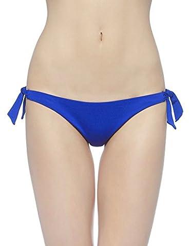 EONAR Femme Cravate latérale Tong Maillots de bain Brésilien Bas Bikini Shorts (S,Royal Blue)