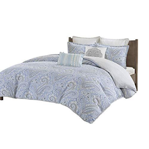 Echo Design Bukhara Bettwäsche-Set für Doppelbetten, Baumwolle, Blau - Echo Design-bettwäsche-bettdecken