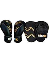 MADX Boxing Gloves and Focus Pads Set Hook & Jabs Mitts Punch Gym Training MMA