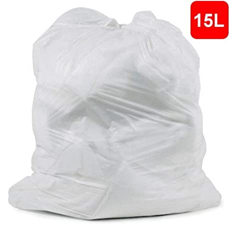 white bin bag with clothes
