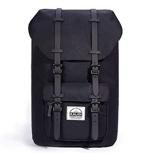 022ab802da8460 Kalidi 15 Pollici Nylon Zaino per PC Portatili Scuola Borse Casual retrò  Viaggi Trekking Backpack