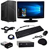 WOLUX WPC-1564 Assembled Desktop Computer (Intel Core 2 Duo 3Ghz, 4GB RAM, 500GB Hard Drive, DVD RW, 15.6 Inch LED, WiFi, Integrated Graphics), (Black)
