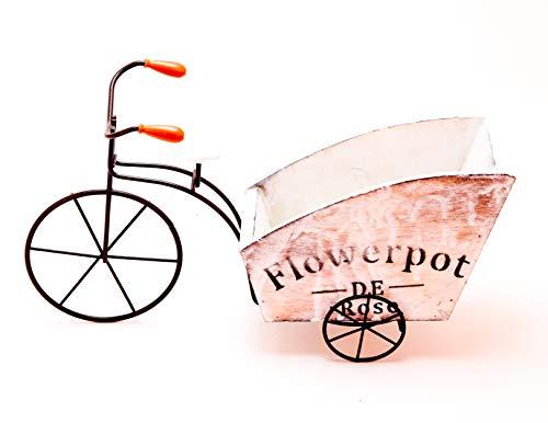 Pots vélo Vintage à Fleurs,Pot de Fleurs « Vélo »,Vélo Vintage de Pot de Fleur,Velo Vintage DECORATIF en Bois Porte Plante DE Decoration Florale pour Jardin OU TERRASSE