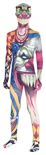 orphsuit Faschingskostüm - Large 4'1-4'6 (123cm-137cm) (Halloween Clown Morphsuit)