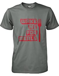 Funnies by wantAtshirt - Wake Me For Meals - FunnysT-shirt S to 2XL