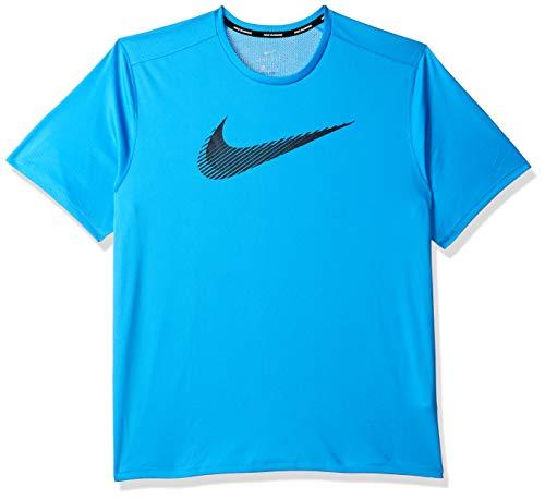 Nike Men's Printed Regular fit T-Shirt (899503-482_Eqtrbl/Obsidn_Medium)