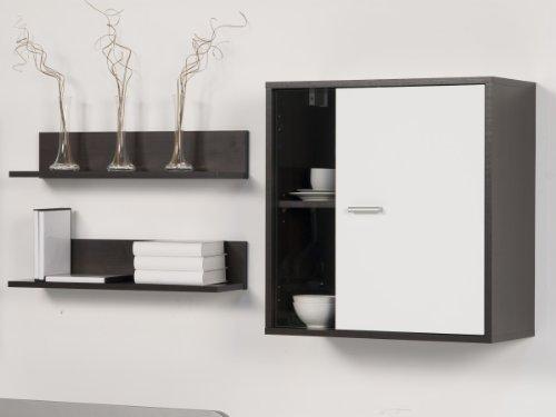 Wohnwand Wohnkombi Wenge / Weiß – Breite 220 cm, Farbe:weiß /wenge - 2