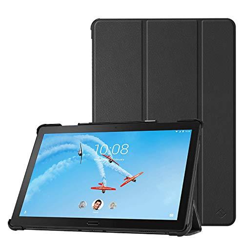 Fintie Hülle Kompatibel für Lenovo Tab P10 - Ultradünne Superleicht Flip Hülle mit Auto Sleep/Wake Funktion für Lenovo Tab P10 10,1 Zoll Tablet, Schwarz