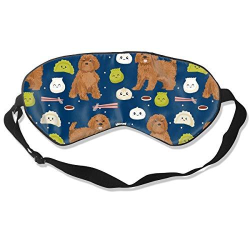Ruby Cavoodle Cavapoo Dog Breed Dim Sum Sleep Mask Pack Men and Women Or Children Eye Mask No Pressure Eye Masks for Sleep & Travel