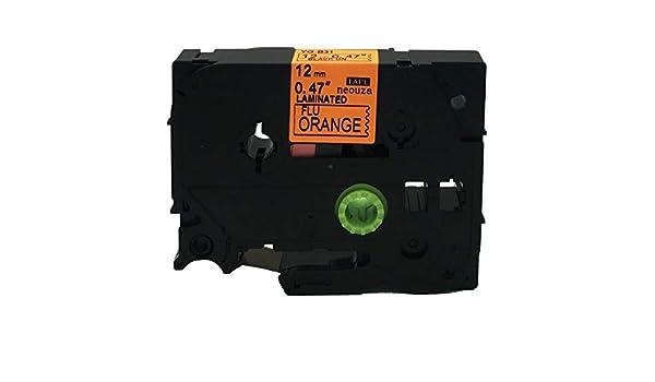 Nero//Giallo fluorescente Label-Brother-Nastro etichettatrice compatibile per Brother P-Touch Tz C51 Tze C51 laminato 24 mm x 5 m Colore