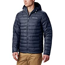 Columbia Men's Powder Lite Hooded Jacket, Blue (Collegiate Navy), 3X