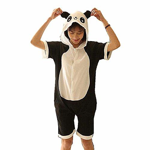 n Pyjamas Kostüm Sleepsuit Anime Tier Schlafanzug Cosplay Halloween für Erwachsene Kinder (S(150-158CM), Panda) ()