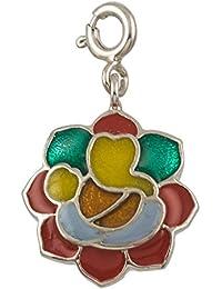 [Sponsored]fourseven Charm In 925 Sterling Silver | Rangoli Ganesha Charm | For Women And Girls (Gift For Him/Her)