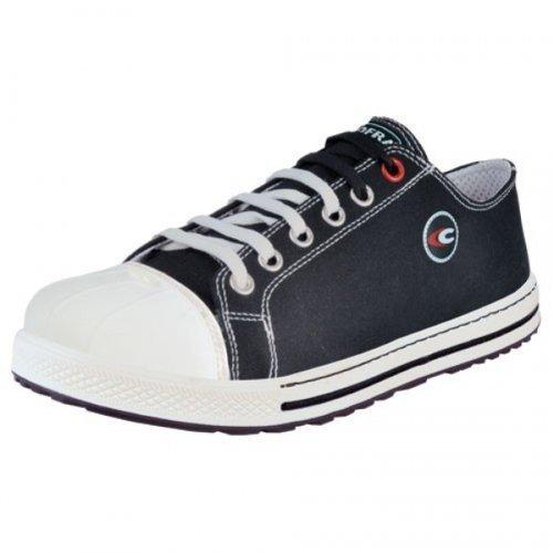 Cofra chaussures de sécurité Free S1 P Old Glories 35021–002, style Chucks, noir