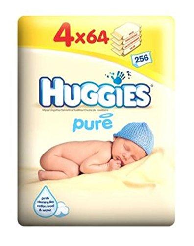 HuggiesSalviette Puri Quad Pack - 4 X 64 Salviettine Pacchetto (Confezione da 2)