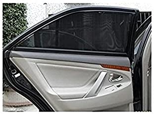 Autopixle Car Magnetic Sunshades for Fabia Normal Zipper (Black, PCS of 4)