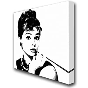 audrey hepburn breakfast at tiffany 39 s kunstdruck auf leinwand motiv 142 gr e 50 x 50 x 1 5 cm. Black Bedroom Furniture Sets. Home Design Ideas