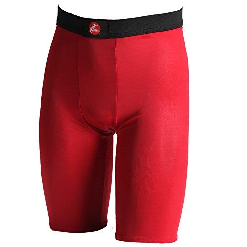 Cramer pantaloncini da uomo a compressione per quad, e inguine sostegno, bianco Red
