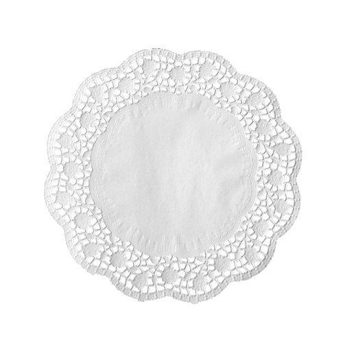PAPSTAR Tortenspitze, rund, Durchmesser 200 mm, weiß 12454