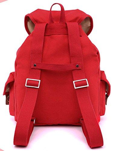 Schultertasche Rucksäcke Cool Tasche Tasche Einfache Qualität accessories Keshi Freizeitrucksack Leinwand Damen hohe Pink Swqnp84