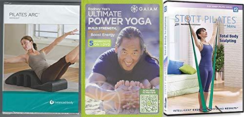 Intelligent Effective Body Betterment: Pilates Arc Workout - Balanced Body (Lizbeth Garcia) + Rodney Yee's Ultimate Power Yoga + Stott Pilates with Moira Total Body Sculpting 3 DVD BUNDLE
