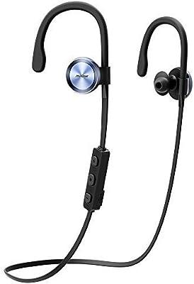 Mpow Auriculares Bluetooth 4.1 Headphones Inalámbricos Deportivos para Correr Ejercicio, Cancelación de Ruido, Diseñado para Deporte Compatible con Apple iPhone 6 6s 7 Huawei Android Movíl