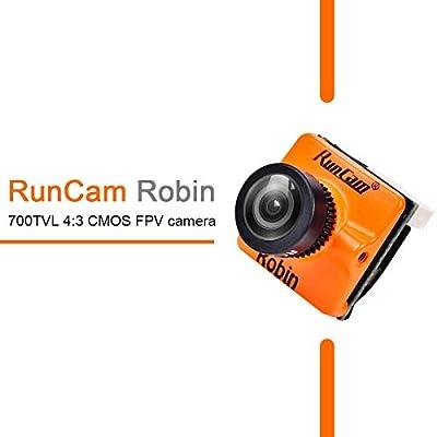 "HankerMall FPV Camera RunCam Robin 700TVL 1.8mm Lens PAL/NTSC Switchable 1/3"" CMOS 4:3 FOV 160 Degree Micro Mini FPV Camera for FPV Quadcopter Racing Drone Orange"