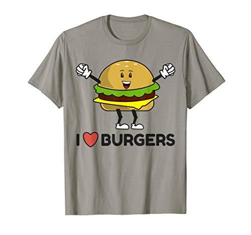 I Love Burgers Tasty Buns Cheeseburger T-Shirt (Cheeseburger Shirt)