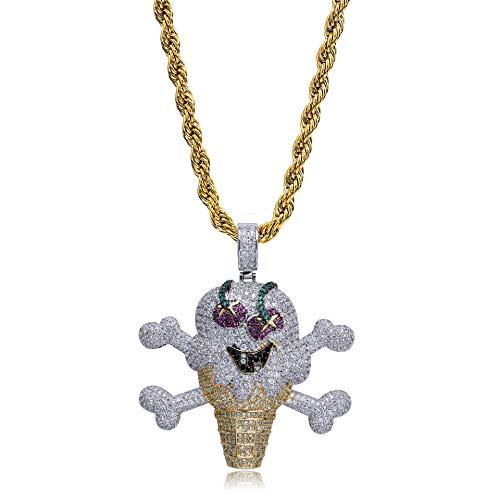 LC8 Schmuck Hip Hop Pirat EIS Anhänger Iced Out Strass Diamant Bling Shiny Kreative Mode Anhänger Halskette mit 24