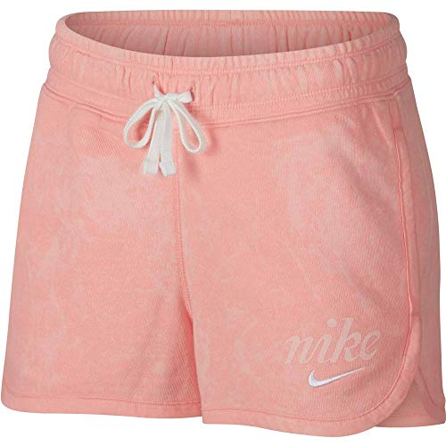 Nike Damen Sportswear Shorts, Bleached Coral/Summit White/Summit White, S