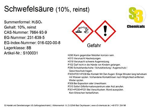 Schwefelsäure (10%, reinst) Gebindegröße 500ml -