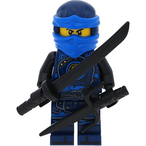 Preisvergleich Produktbild LEGO Ninjago Minifigur Jay Hands of Time (Hände der Zeit) aus Set 70622 incl. 2 Schwertern