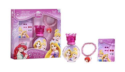 Disney Princesses Coffret Eau de Toilette 30 ml, Bracelet, Boucles d'Oreilles Adhésives