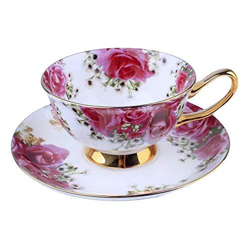 Porzellan Keramik Tee-Tasse Tasse Kaffee, Rose, Weiß Und Rot