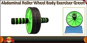 Abs Abdominal Roller Wheel Exerciser wheel body training Green