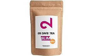 DUAL SLIM-28 Days F-Burner Tea | Pour les Femmes et les Hommes | Complexe Actif à Base d'Herbes | 85g en Vrac| Complément 100% Naturel Sans Additifs| Végétalien et Sans Gluten | Fabriqué en Allemagne