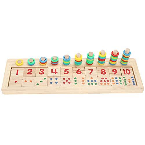 Yanchad Montessori Juguetes Preescolar Creativo Educativos Rompecabezas Educativo Bloques de números para Niños Chicas Chicos