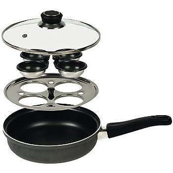 Lakeland Lidded Frying Pan & 4 Cup Egg Poacher Accessory 21cm
