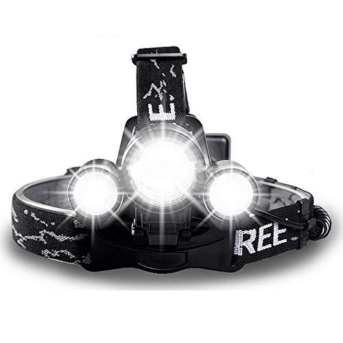 SupFire HL33 Super helle LED-Stirnlampe, Wasserdichte LED-Stirnlampe, verstellbar, 900 lm, wiederaufladbar mit AA-Batterie, 4 Modi, für Camping, Laufen, Jagd, Angeln, Wandern