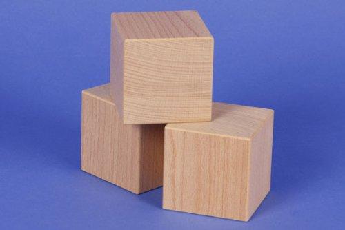 10 Holzwürfel aus Buche 60x60x60mm Bauklötze aus der Manufaktur Tischlerschuppen