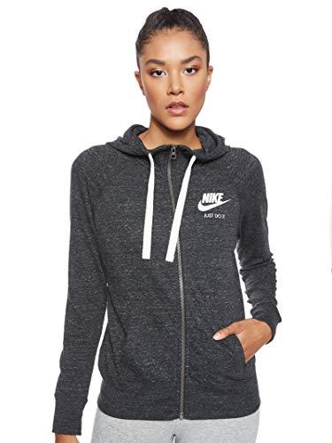 Nike Damen Vintage Kapuzen-Sweatshirt, schwarz (Black/Sail 010)), S