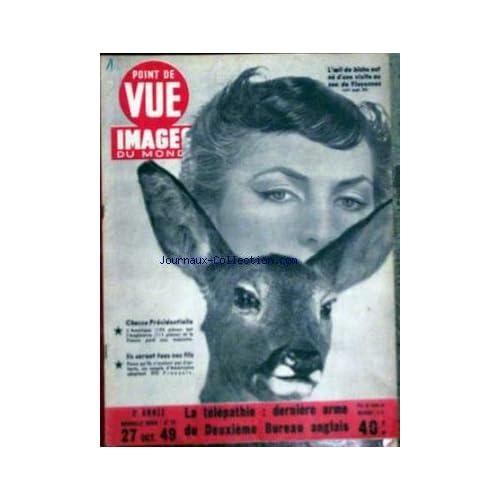 POINT DE VUE IMAGES DU MONDE [No 73] du 27/10/1949 - LA TELEPATHIE - DERNIERE ARME DU DEUXIEME BUREAU ANGLAIS.