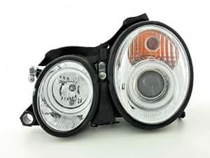 Phares pour Mercedes CLK (type W208) An: 98-02 chrome
