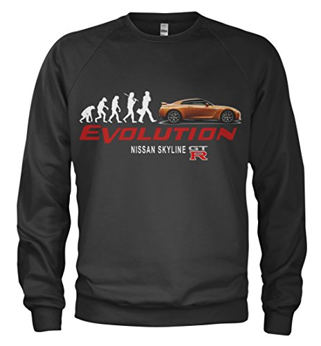 1/4 Mile Kult Sweatshirt Nissan GTR Skyline EVO Evolution Boost Tuning (2XL)