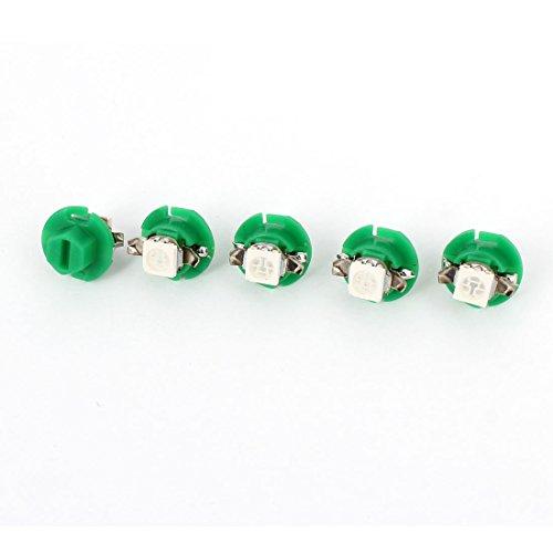 Sourcingmap 5 PC T5 B8.4D 5050 1 SMD LED Ampoule-Tableau Bord Vert 12 V pour Interne Voiture