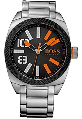 Hugo Boss Orange - 1513114 - Montre Homme - Quartz Analogique - Cadran Noir - Bracelet Acier Argent