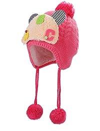 32ef91612cee Symboat Enfants d hiver Chaud Tricoté Chapeau Bonnet Mignon Lettre Tresses  Cheveux Boule Chapeau Casquette